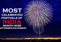 Most Celebrated Festivals of India, Month wise (September-December)